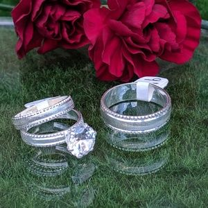 💞Authentic 925 Silver Wedding Rings